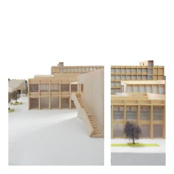 detail of model