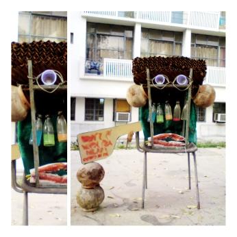 junk-yard sculpture